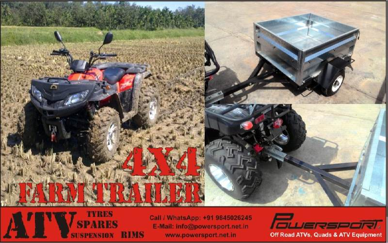 4x4 Utility Trailer for Farms