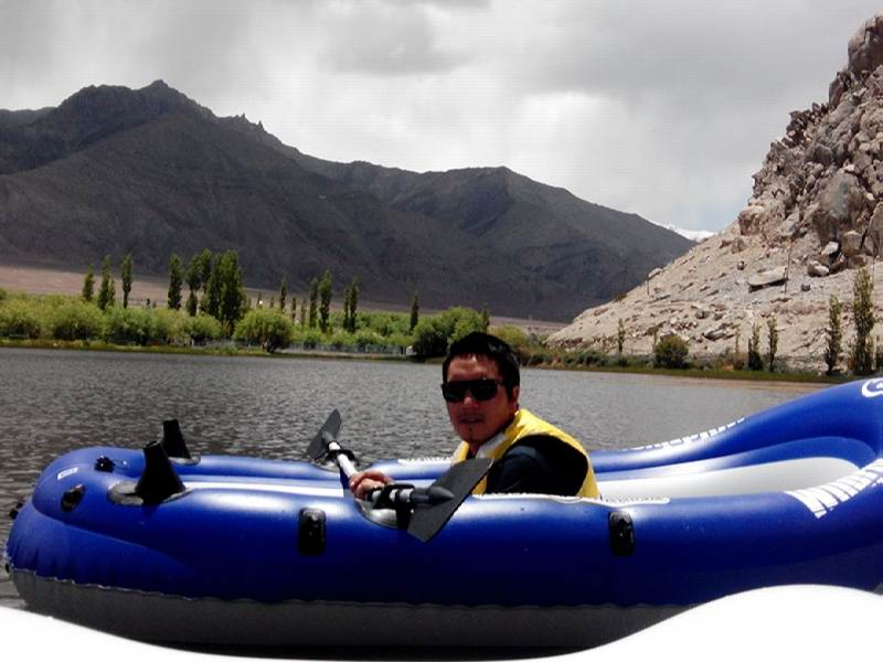 Boating in Ladakh