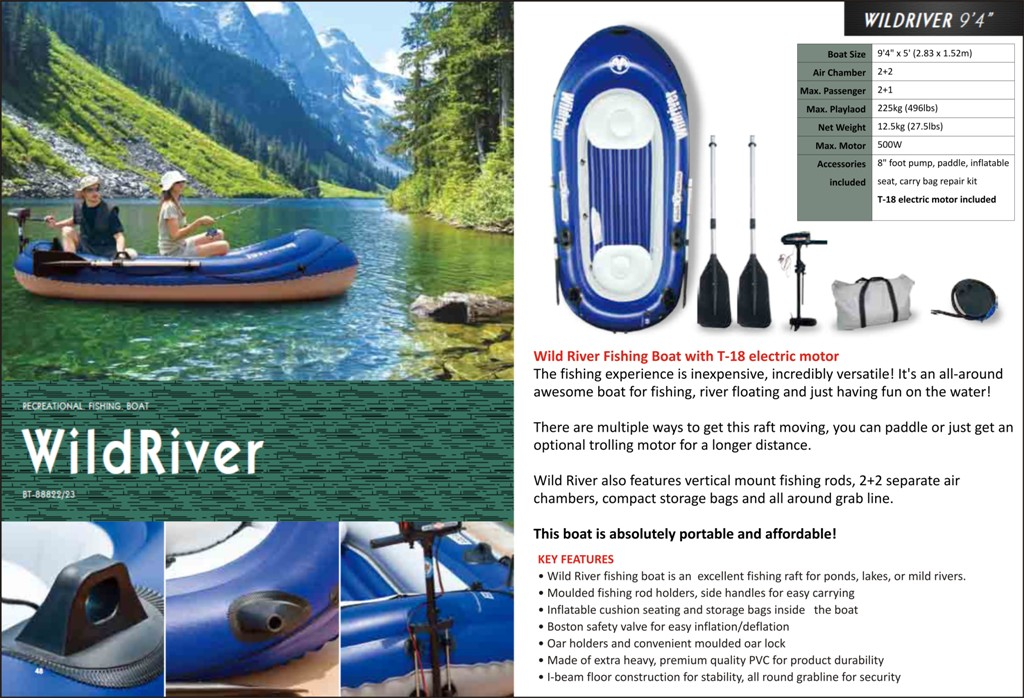 New stock of Inflatable Boats, Inflatable Rafts