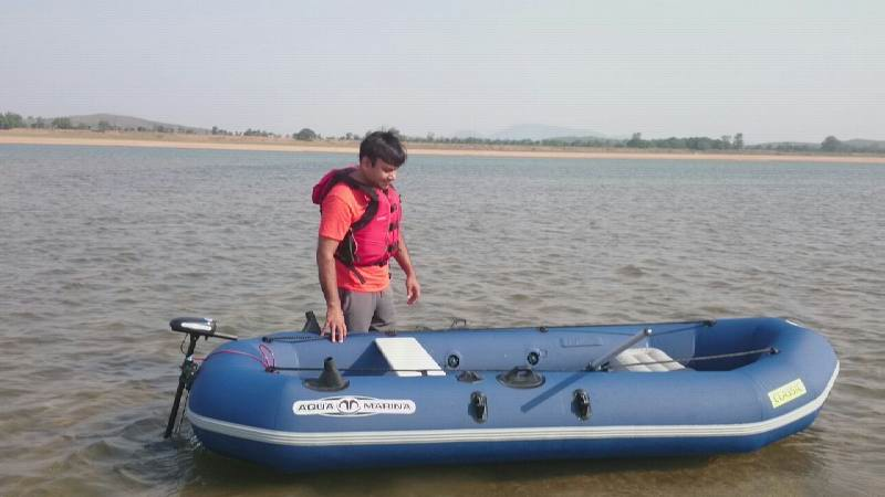 Water sports Boating in Mahanadi river, Orissa