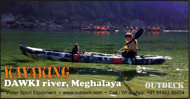 Kayaking in-Dawki river Meghalaya