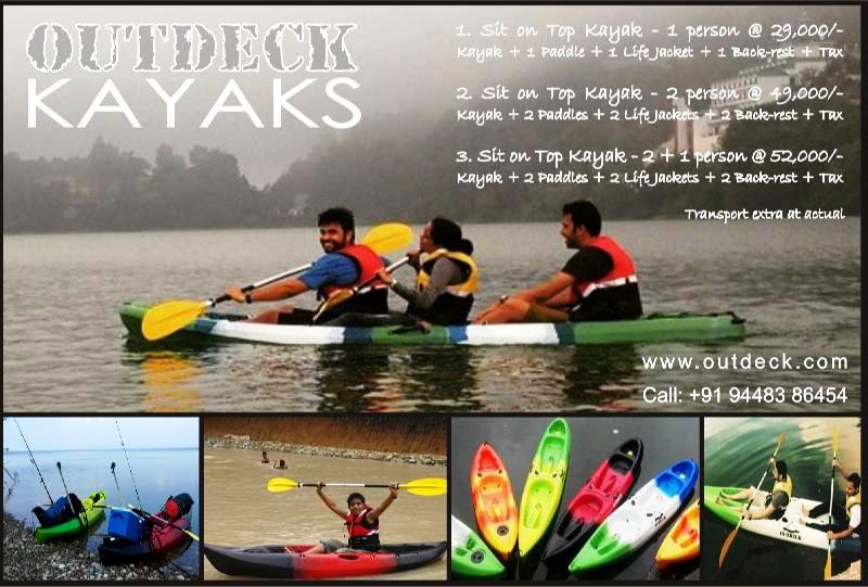 Kayak Prices with Paddles and Life Jackets delivered in India