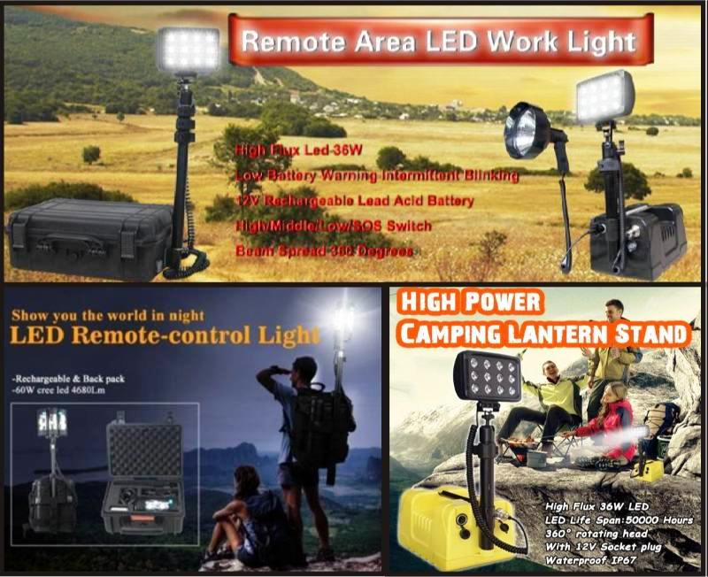 Mobile LED Light Tower, Rechargeable LED Floodlights for sale
