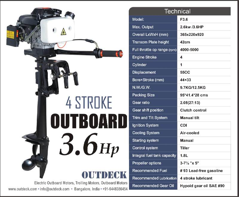 Fishing 3 6 hp 4 stroke outboard motor for 6hp outboard motor electric start