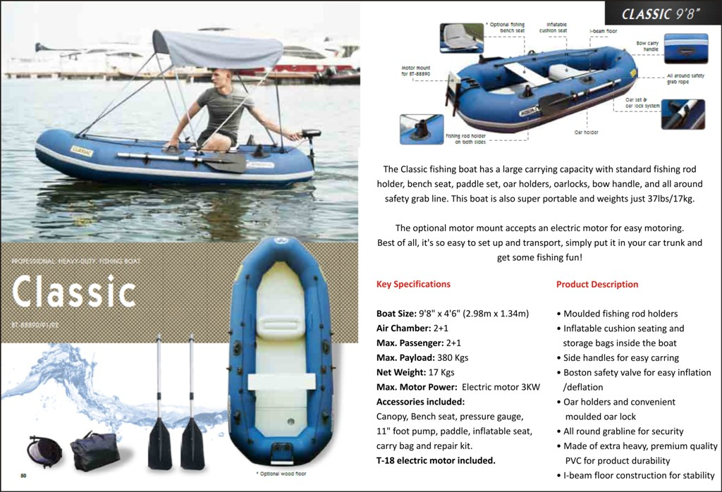 Inflatable Electric Motor Boat