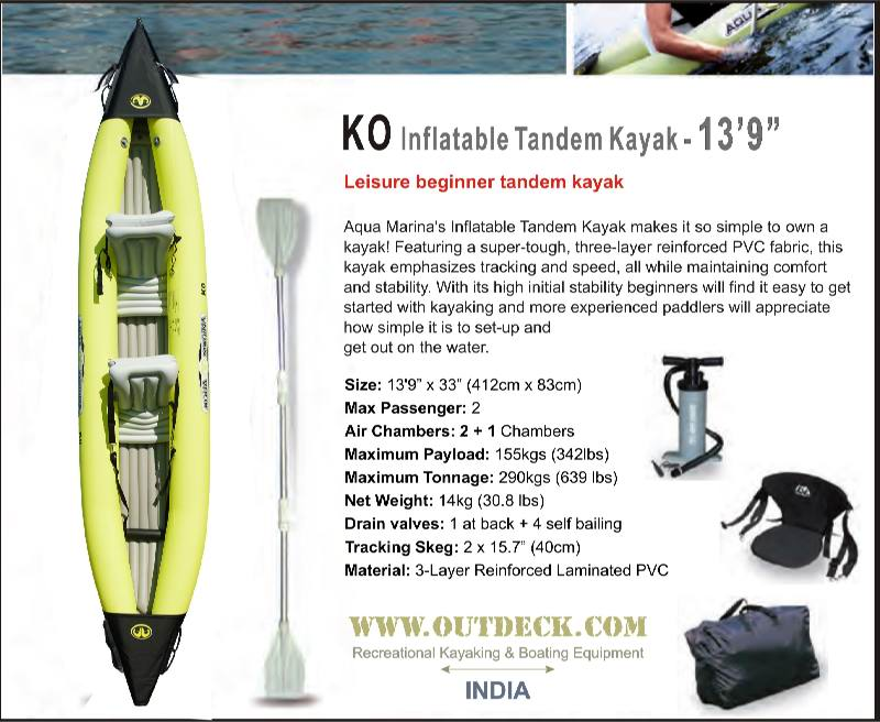 Inflatable Kayak 2 person Inflatable Tandem Kayak for sale