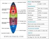 Family Kayak with Life Jackets & Paddles for sale