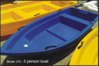 3 person Polyethylene Plastic Boat
