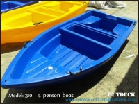 4 person Polyethylene Plastic Boat