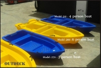 6 person Polyethylene Plastic Boat
