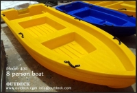8 person Polyethylene Plastic Boat